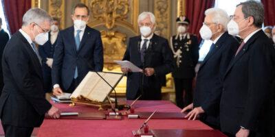 Ministro Economia Daniele Franco Giuramento Quirinale