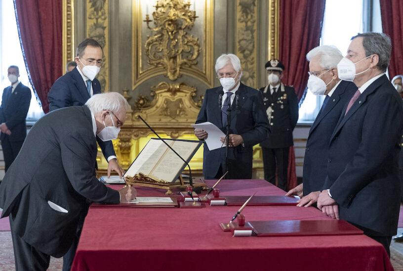Ministro Patrizio Bianchi Giuramento Quirinale