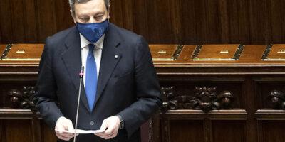 Presidente Draghi replica Camera