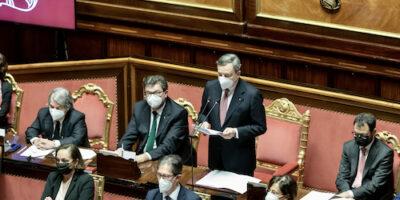 Replica Presidente Draghi Senato